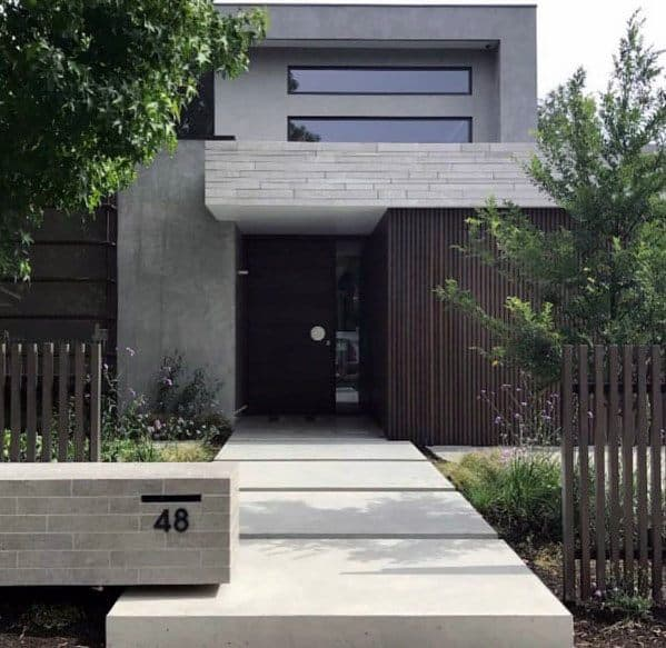 Concrete Walkway Design Ideas Modern Front Yard