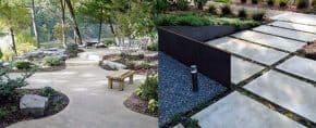Top 60 Best Concrete Walkway Ideas – Outdoor Path Designs