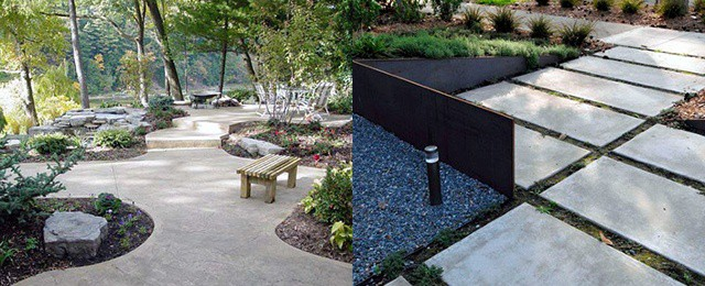 Top 60 Best Concrete Walkway Ideas – Outdoor Path Designs
