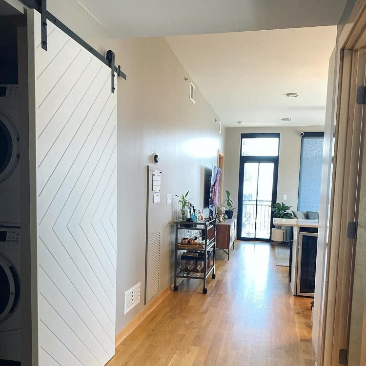 Condo Modern White Barn Door