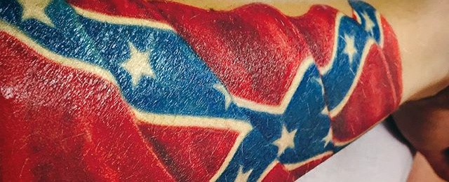 Confederate Rebel Flag Tattoos For Men