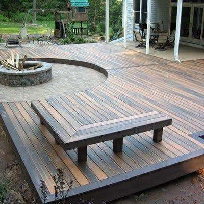 Contemporary Backyard Deck Seating Ideas