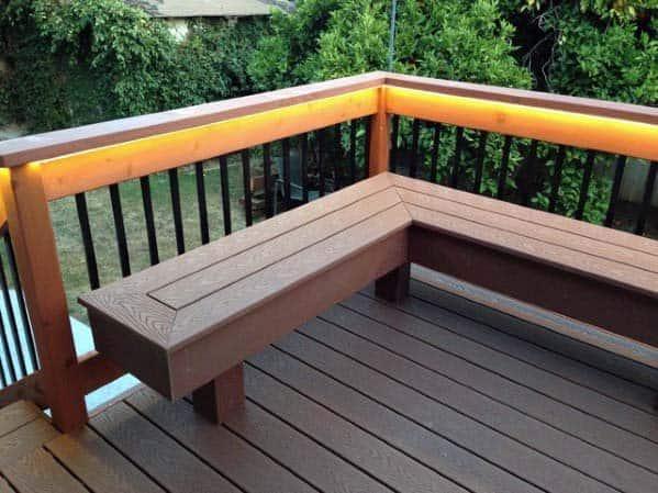 Contemporary Backyard Designs Deck Benchs