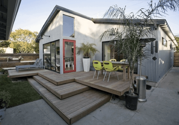 Contemporary Backyard Designs Floating Deck