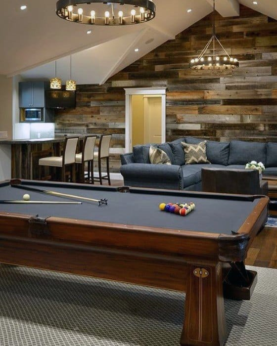 Contemporary Basement Man Cave Design Inspiration