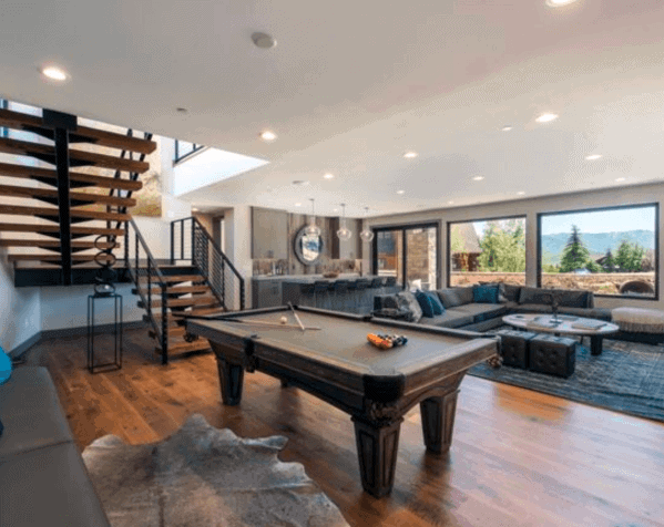 Contemporary Billiards Room Ideas