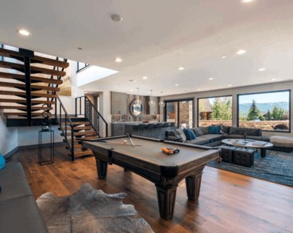 Contemporary Billiards Room Ideas