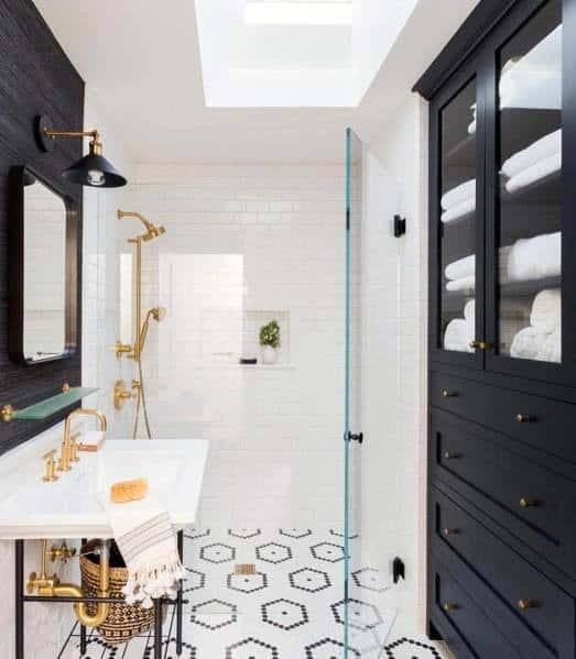 . Top 60 Best Black Bathroom Ideas   Dark Interior Designs