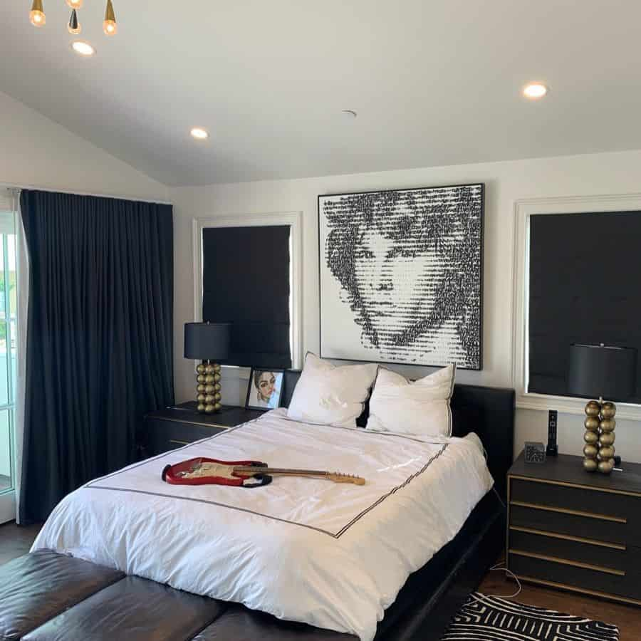 contemporary black and white bedroom ideas chateau310