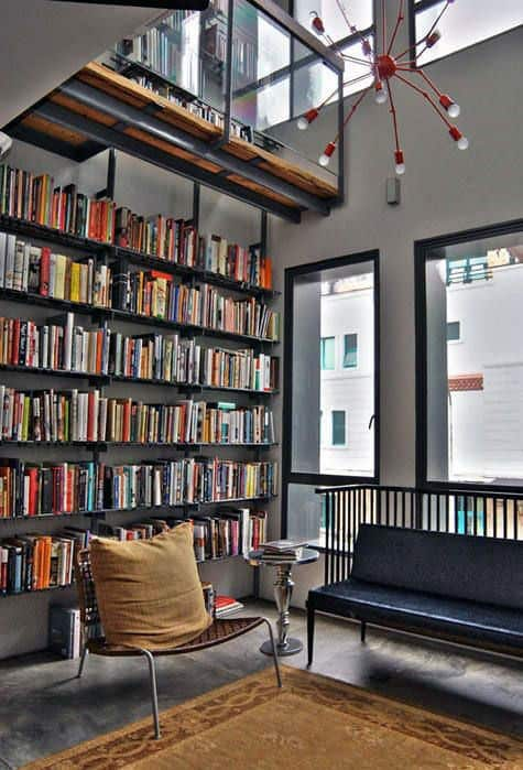Contemporary Book Collection Home Library Lounge