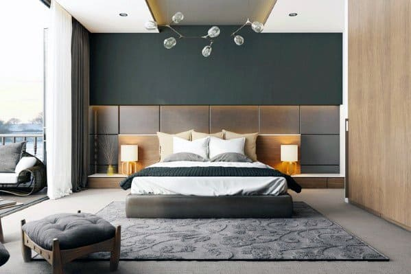 Contemporary Chandelier Above Bed Design Ideas For Bedroom Lighting