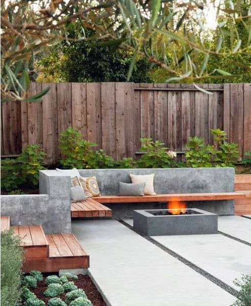 Contemporary Concrete Ideas For Fire Pit Seating