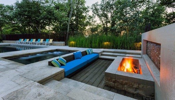 Contemporary Cool Backyard Ideas With Fire Pit - Top 60 Best Cool Backyard Ideas - Outdoor Retreat Designs