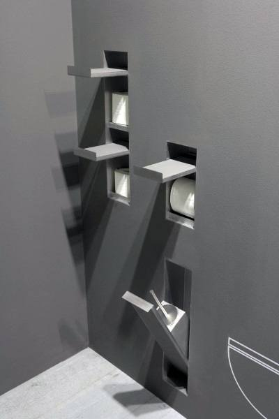 Contemporary Cool Bathrooms Toilet Paper Holders Built In Wall