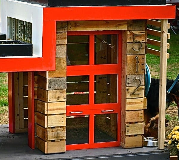 Contemporary Cool Dog Houses With Wood Construction