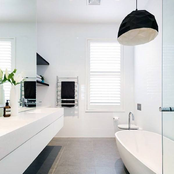 Contemporary Cool White Bathroom