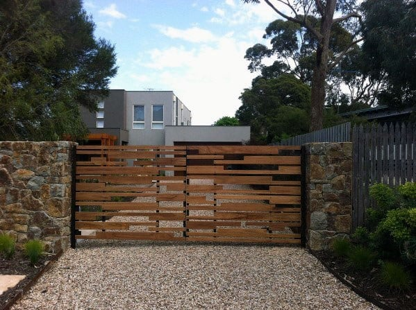 Top 40 Best Wooden Gate Ideas - Front, Side And Backyard ...
