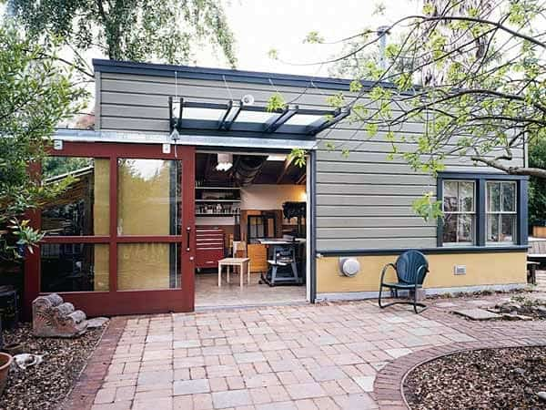 Contemporary Detached Garage Workshop Ideas
