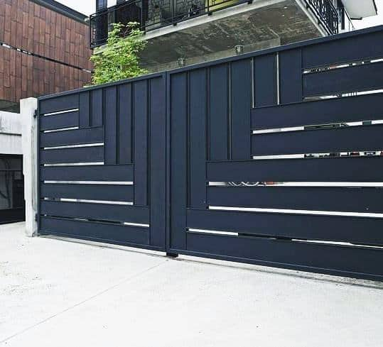 Contemporary Driveway Entry Gates Ideas