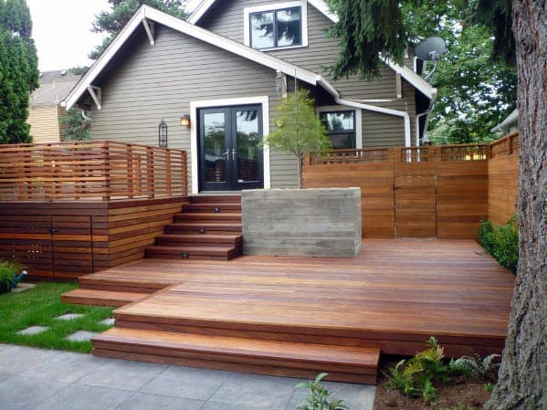 Contemporary Excellent Backyard Ideas Deck Skirting