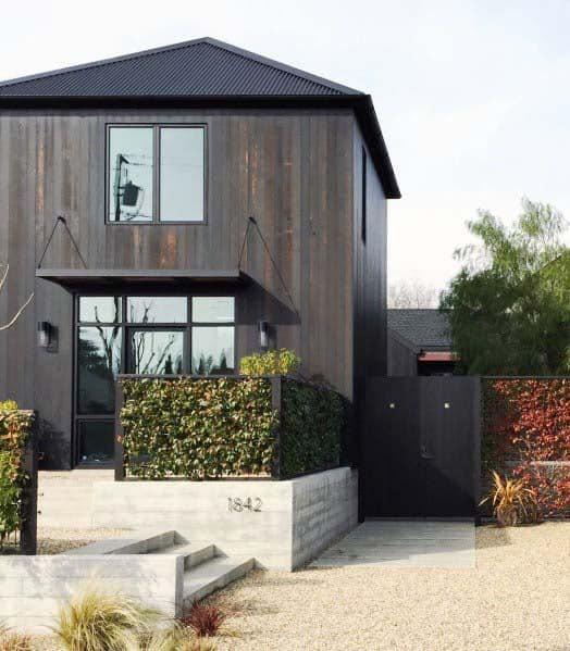 Contemporary Exterior Designs Gravel Landscaping
