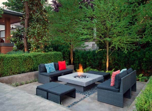 Contemporary Fire Pit Landscaping Designs