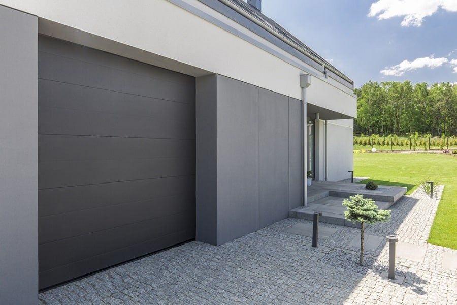 Beautiful Hardwood Garage Door Ideas