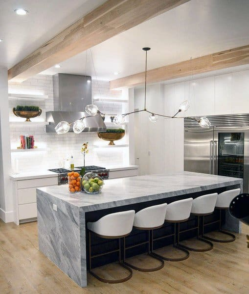 Contemporary Gl And Metal Long Interior Ideas Kitchen Island Lighting