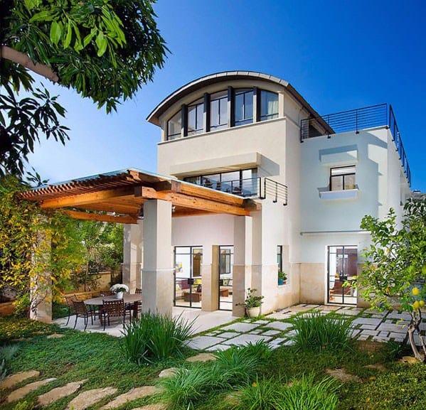 Contemporary Home Backyard Designs Patio Roof