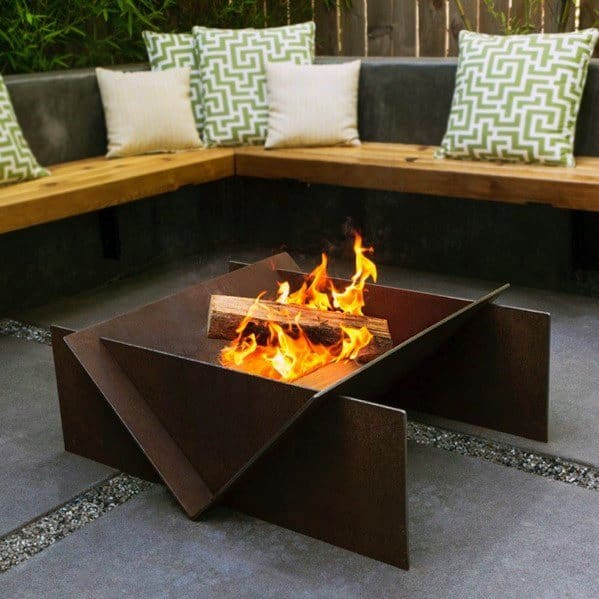 Contemporary Home Design Ideas Metal Fire Pit
