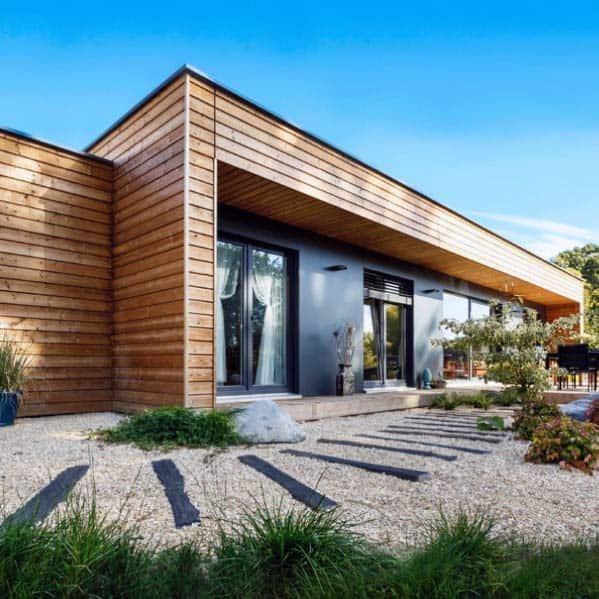 Contemporary Home Exterior Ideas For Gravel Landscaping