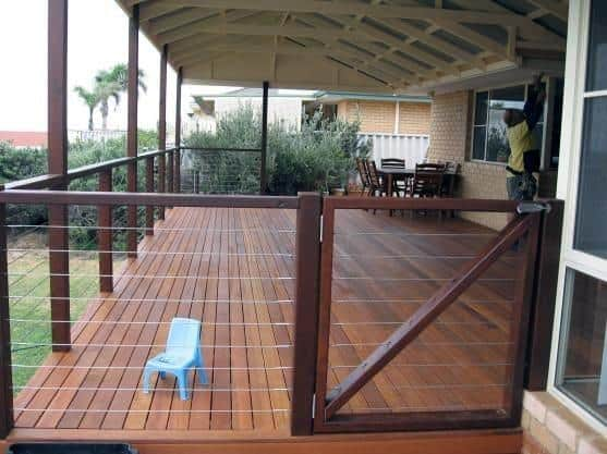 Contemporary Home Ideas Deck Gate With Metal Wire