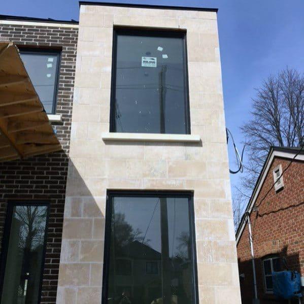 Contemporary Homes Brick And Limestone Exterior Cool Cladding Ideas