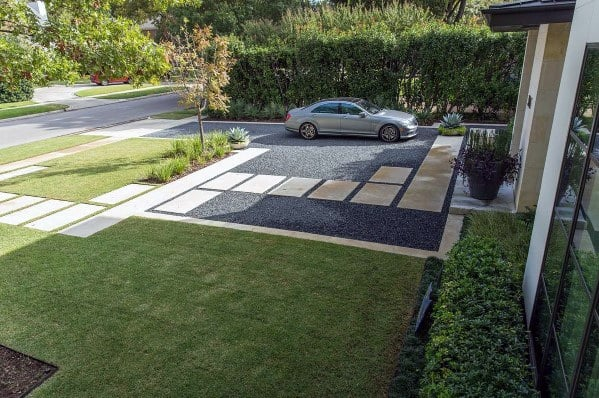contemporary-ideas-for-gravel-driveway Parking Driveway Luxury Home Designs on luxury home hallway designs, luxury home second floor landing designs, luxury home sunroom designs,