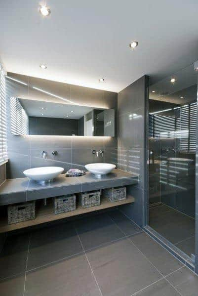 Contemporary Ideas For Grey Bathrooms