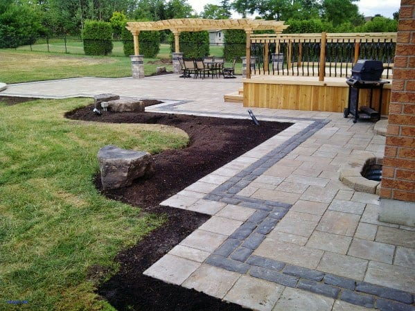 Contemporary Ideas For Paver Patio Backyard