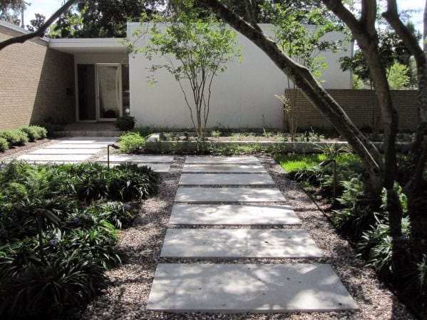 Contemporary Landscape Rectangle Concrete Stepping Stone