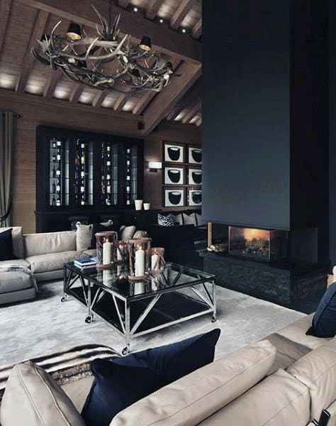 10 Bachelor Pad Living Room Ideas For Men - Masculine Designs