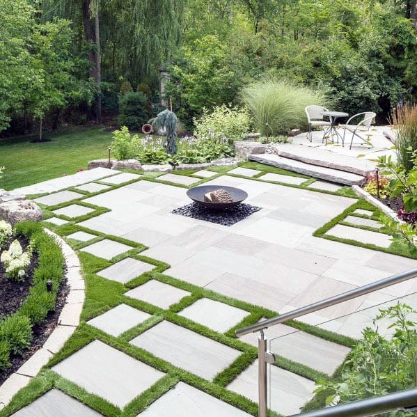 Contemporary Luxury Flagstone Patio Ideas
