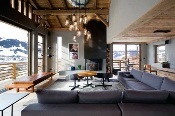 Contemporary Luxury Home Great Room Ideas