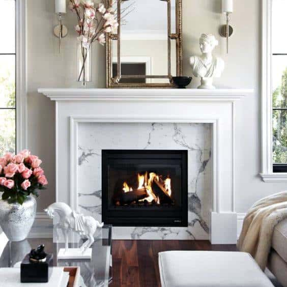 Contemporary Marble Fireplace Mantel Design
