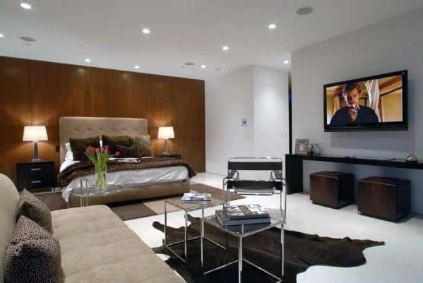 Contemporary Master Bedroom Ideas With Seating Lounge Area