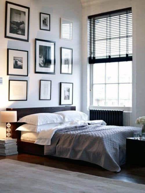 monochrome boho apartment bedroom ideas