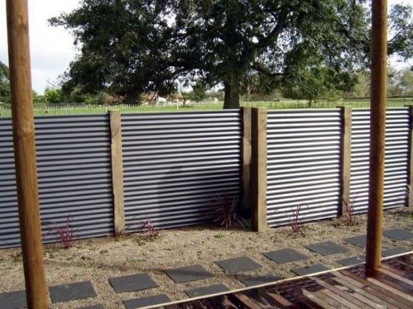 Contemporary Metal Dog Fence Ideas