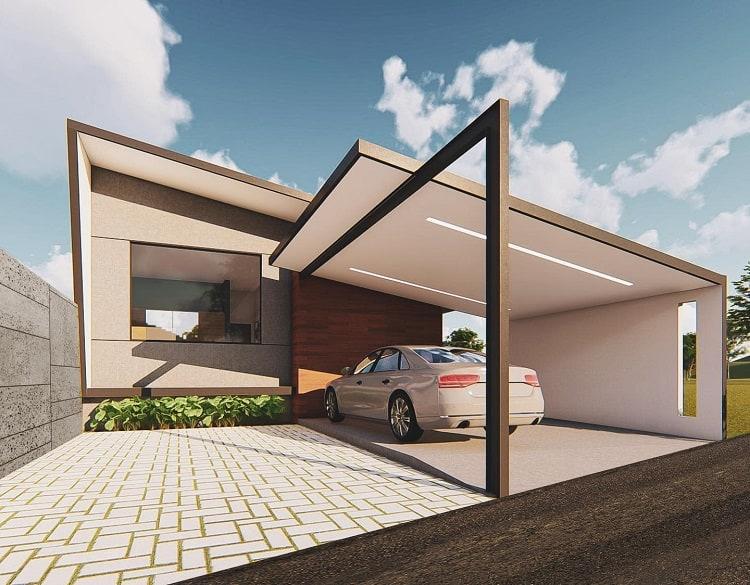 Contemporary Modern Carport Hop Arquitectos