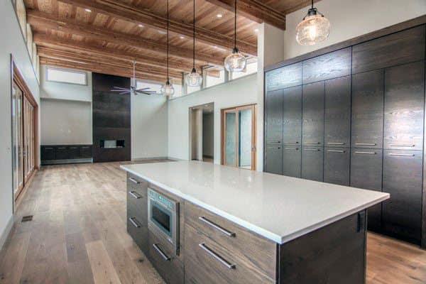 brown kitchen cabinet color ideas