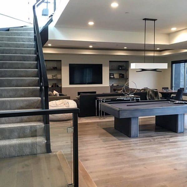 Contemporary Modern Male Basement Man Caves