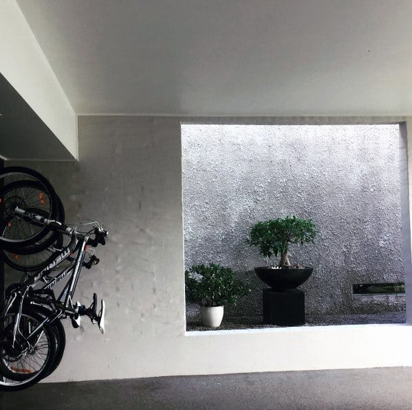 Contemporary Planter Wall Garage Interior Ideas
