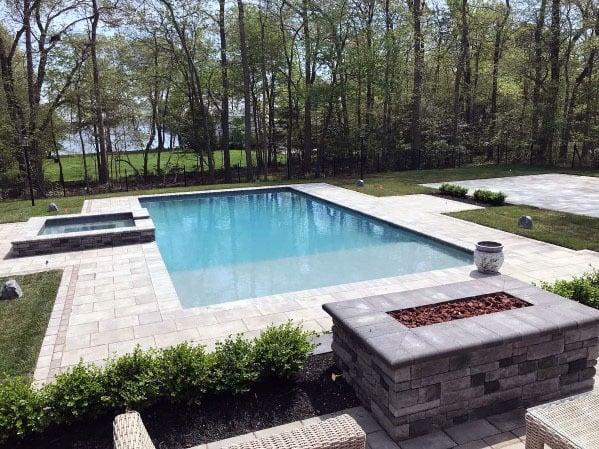 Contemporary Pool Design Ideas Paver Patio