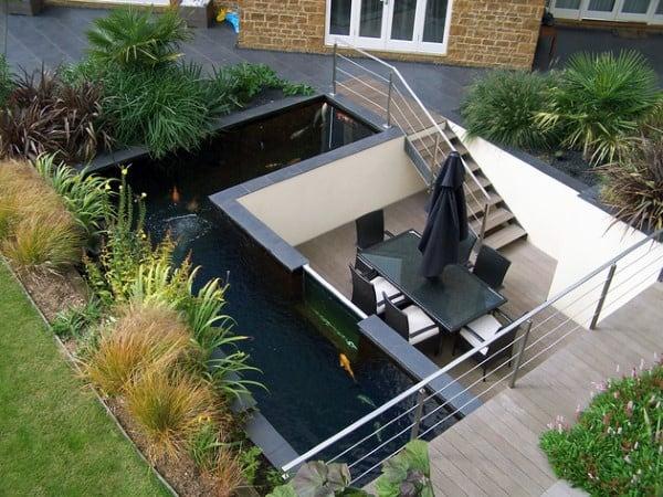 Top 50 Best Backyard Pond Ideas - Outdoor Water Feature ... on Raised Garden Ponds Ideas id=54517